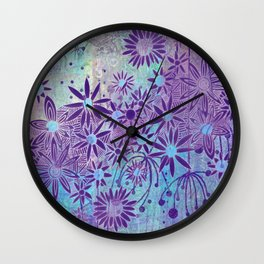 flowers of sky Wall Clock