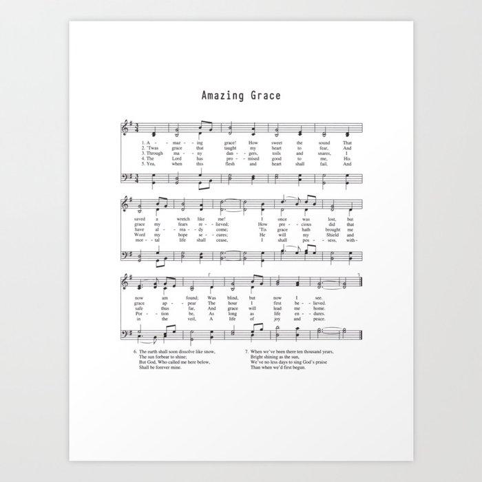 Hymn - Amazing Grace Kunstdrucke