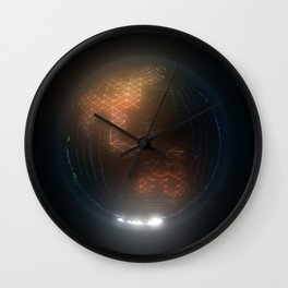 Albedo: Asia And Australasia By Night Wall Clock