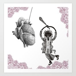 Your heart is my pinata! Art Print
