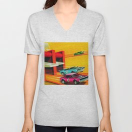 Vintage Hot Wheels Redline Dual-Lane Rod Runner Racing Poster Trade Print Unisex V-Neck