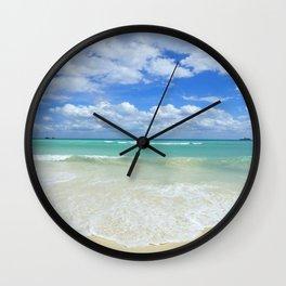 Playa Del Carmen Beach Wall Clock