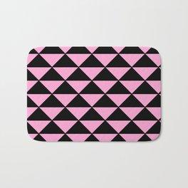 Graphic Geometric Pattern Minimal 2 Tone Infinity Triangles (Pastel Pink & Black) Bath Mat