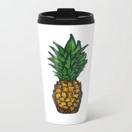 Simple Pinneaple Metal Travel Mug