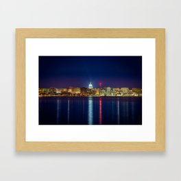 Madison at Night Framed Art Print