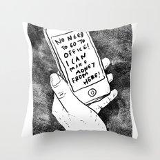 smartphone Throw Pillow