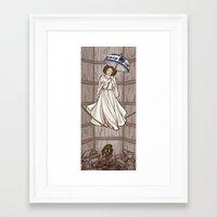 hallion Framed Art Prints featuring Leia's Corruptible Mortal State by Karen Hallion Illustrations