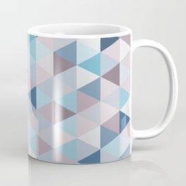 Mauve Blue Small Triangles B Coffee Mug