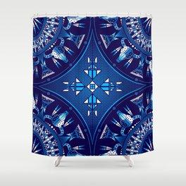 buffalo Gathering blue Shower Curtain