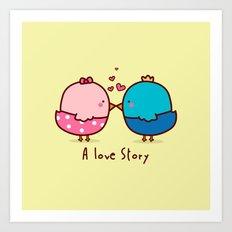 A Love Story Art Print