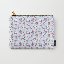 Cute Christmas // Blue Carry-All Pouch