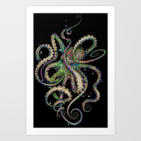 Octopsychedelia (black) by taojb