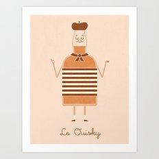 Le Ouisky Art Print