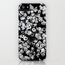 Black and White Barnacles iPhone Case