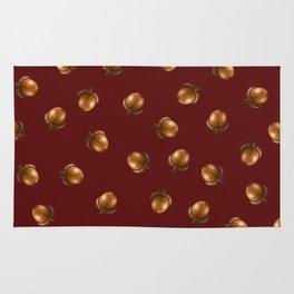 Acorn Pattern-Maroon Rug