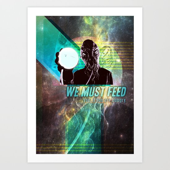 "Doctor Who: Ood - ""We must feed"" Art Print"