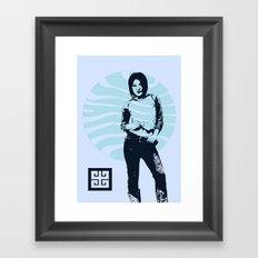 jean ad Framed Art Print