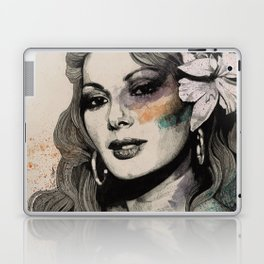 Edwige (street art sexy portrait of Edwige Fenech) Laptop & iPad Skin