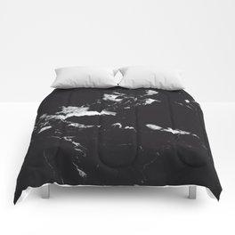Black Marble #1 #decor #art #society6 Comforters