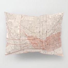 Vintage Railroad Map of Chicago (1871) Pillow Sham