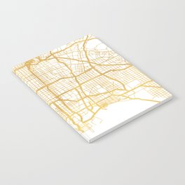 LOS ANGELES CALIFORNIA CITY STREET MAP ART Notebook