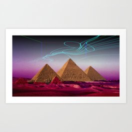 There's something out there Art Print
