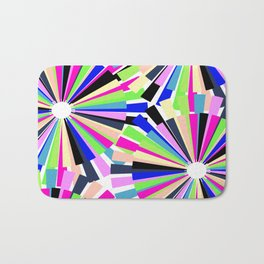 MULTI COLOURED WHEELS Bath Mat