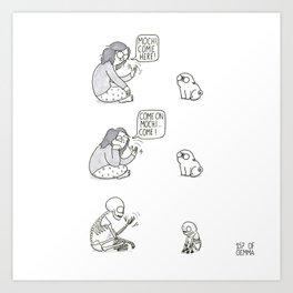 Pugs are stubborn Art Print