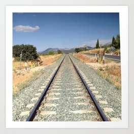 Train in Spain Art Print