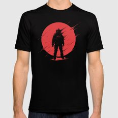 Red Sphere SMALL Black Mens Fitted Tee