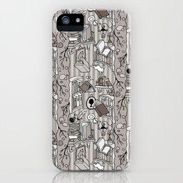 Books: Through the rabbit hole_Warm Gray iPhone Case