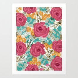 Colorful pattern Art Print