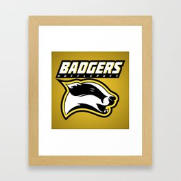 Badgers Hufflepuff  Framed Art Print