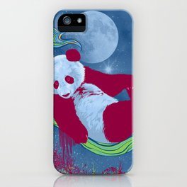 Goodnight, Panda - Colorful Starlight Night Sky iPhone Case