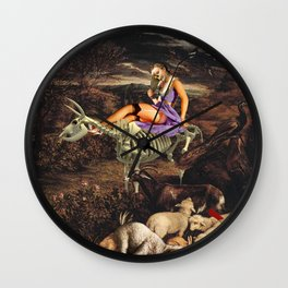 Us and the Animals Wall Clock