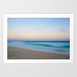 Caribbean sea. Cancun Art Print
