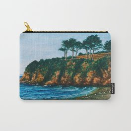 Bretagne rocky coast, acrylic painting Carry-All Pouch