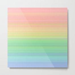 Abstract Pastel Rainbow II Colored gradient stripes Metal Print