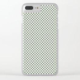 Vineyard Green Polka Dots Clear iPhone Case