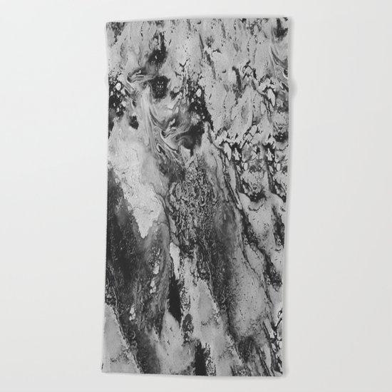 White: Paint Beach Towel