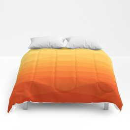 Orange and yellow ombre polygonal geometric pattern Comforters