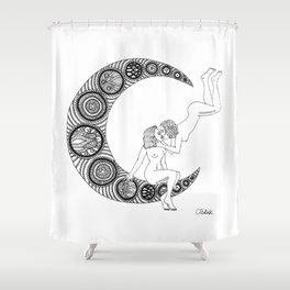 Moon Lesbians Shower Curtain