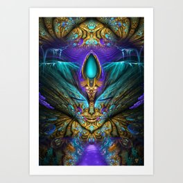 Transcendental - Fractal Manipulation Art Print