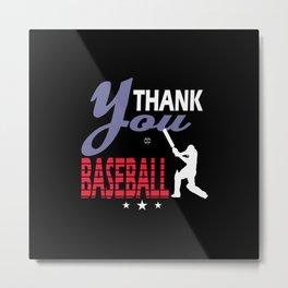Thank you Baseball Metal Print