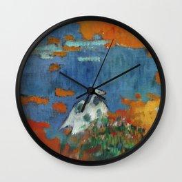 """Paul Gauguin """"Bretonne et oie au bord de l'eau"""" Wall Clock"""