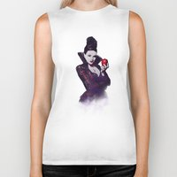 evil queen Biker Tanks featuring The Evil Queen V2 by Cursed Rose