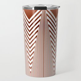 Art Deco Geometric Arrowhead Dusty Peach Design Travel Mug