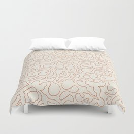 Puzzle Drawing #2 Gold Duvet Cover