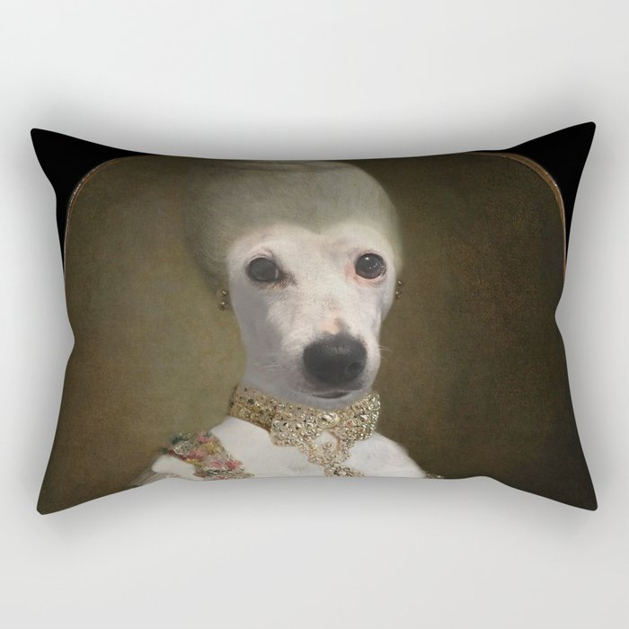 "Marie ""Chien""toinette Rectangular Pillow"