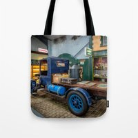 truck Tote Bags featuring Vintage Truck by Adrian Evans